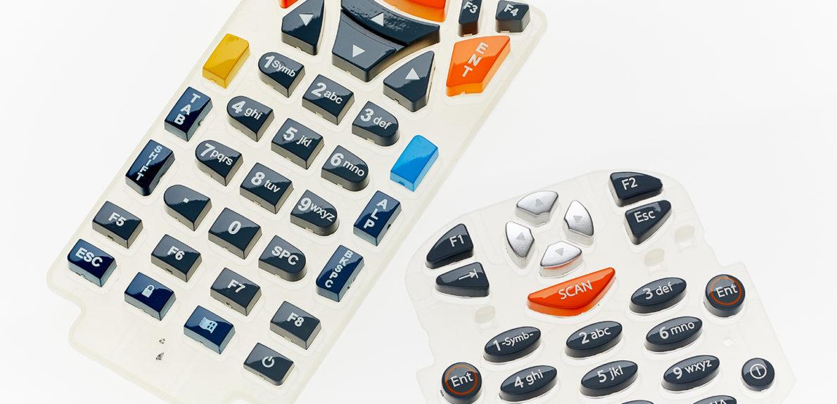 Plastic cap keypad