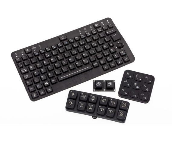 Laser Etched Rubber Keypads